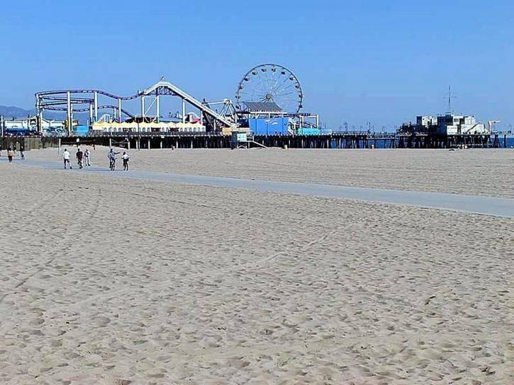 Santa Monica Beach vue sur le pier