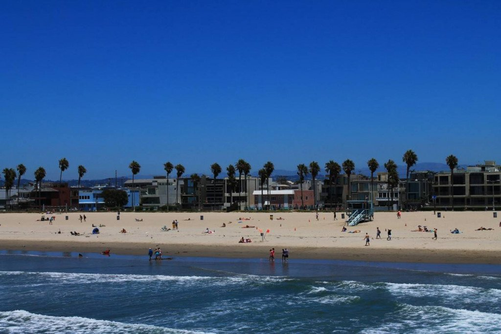 Plage de Santa Monica Los Angeles